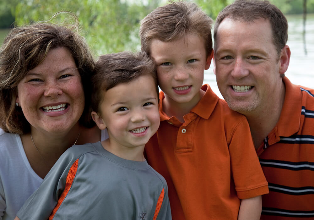 Madison Family with Healthy Teeth