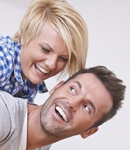 Couple Smiling with Healthy Teeth