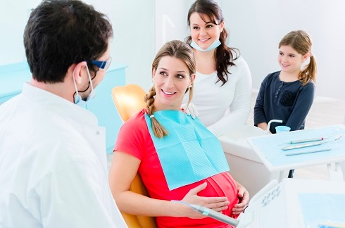 Pregnant Women Receiving Dental Checkup in Madison
