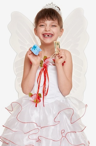 Girl Dressed as Tooth Fairy